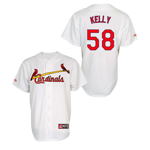 Joe Kelly #58 MLB Jersey-St Louis Cardinals Men's Authentic Home Jersey by Majestic Athletic Baseball Jersey